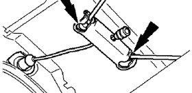 На фото - схема крепления троса ручного тормоза, automn.ru