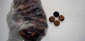 На фото - шарики для деревнной накидки-массажёра для автомобиля, my-garage.spb.ru