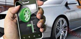 На фото - показания датчика давления в шинах, carsmegablog.com