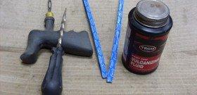 На фото - набор для ремонта бескамерных шин, forum.ngs.ru