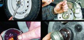 На фото - как снять ступицу заднего колеса, auto-news7.com