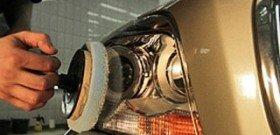На фото - полировка пластика фар, focus-nik.users.photofile.ru