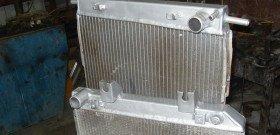 На фото - ремонт алюминиевого радиатора автомобиля, radiator.fis.ru