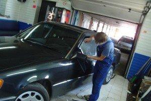 Фото тонировки стёкол автомобиля плёнкой, pitstop21.ru