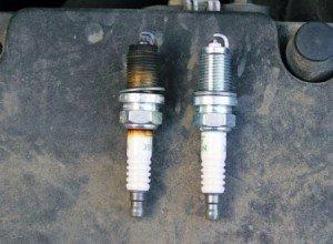 На фото - определение состояния двигателей по свечам зажигания, autorn.ru