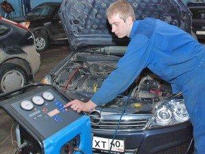 Фото диагностики неисправности кондиционера автомобиля, faeton-avto.com