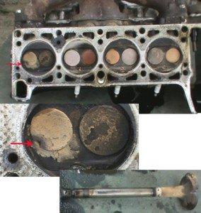 Фото - ремонт системы питания карбюраторного двигателя, прогар головки, make-1.ru