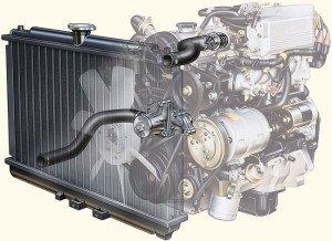 На фото - очистка радиатора автомобиля влияет на работу всей системы, slavko.by