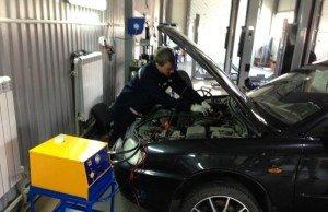 На фото - диагностика топливной системы дизельного двигателя, asmcar.ru