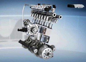 На фото - двигатель с рядным расположением цилиндров, kvist.ru