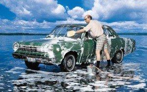 На фото не то место, где можно самостоятельно помыть машину, detroit.tomsk.ru