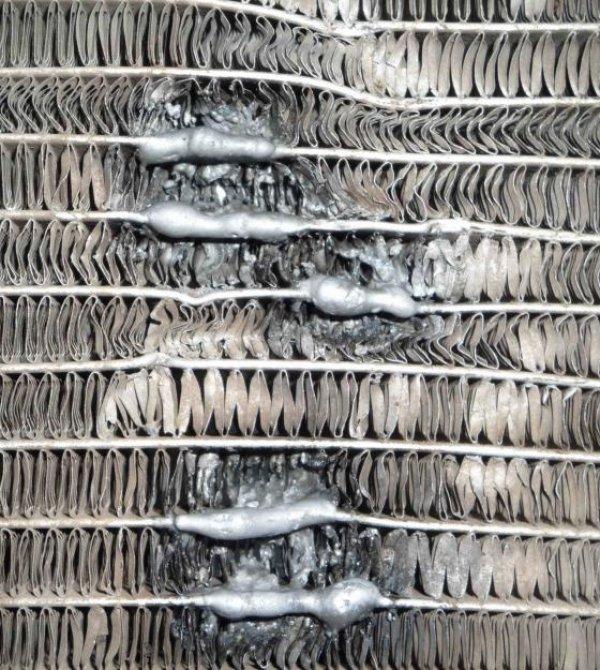 Пайка алюминиевого радиатора автомобиля своими руками видео