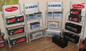 На фото - аккумуляторы разных производителей, elektrikavto.by