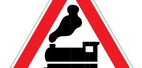 Знак железнодорожного переезда без шлагбаума, legan.ru