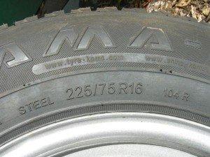 Фото значения параметров размера шин