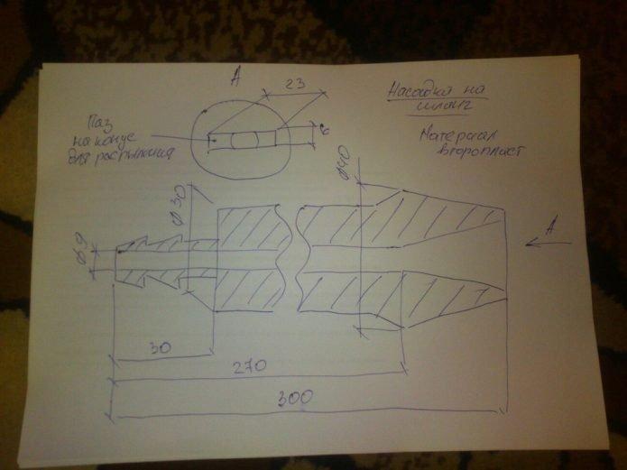 Схема насадки распылителя на газовый баллон