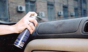 На фото - применение химии для химчистки салона автомобиля, лада2111.рф