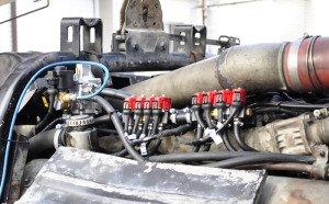 На фото - газовое оборудование на дизельный двигатель, autogas.in.ua