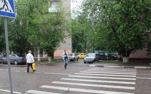 Фото нерегулируемого пешеходного перехода, domodedovod.ru