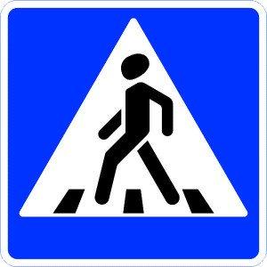 Фото знака пешеходного перехода, electro-rating.ru
