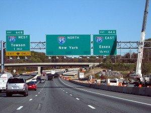 На фото - скорость движения по автомагистрали, marylandreporter.com