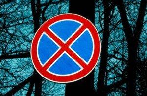 "Фото знака ""Остановка запрещена"", udmavto.ru"