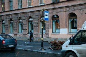 Фото движения автомобиля под знаком автобусной остановки, tema.livejournal.com