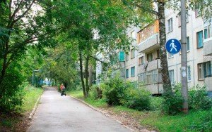 На фото - знак пешеходной дорожки, foto.cheb.ru
