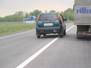 Фото нарушения горизонтальной дорожной разметки, avtotut.ru