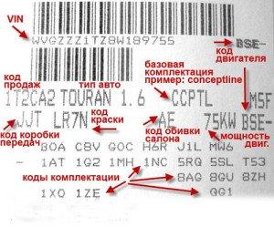 Фото расшифровки VIN-кода Volkswagen, drive2.ru