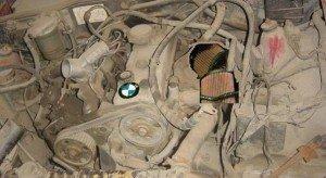 Фото грязного двигателя, avtobombers.ru