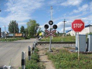 На фото - пересечение ж/д переезда, forum.hutor.ru
