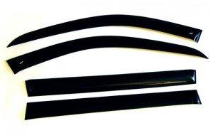 Фото накладных дефлекторов боковых окон, logan52.ru