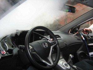 Фото чистки кондиционера автомобиля паром, steampro.ru