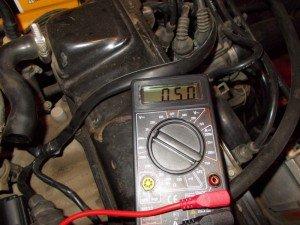 Фото проверки РХХ вольтметром, drive2.ru