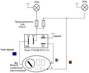 Фото схемы подключения противотуманных фар, drive2.ru