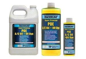 На фото - синтетическое холодильное масло POE, tracerline.com