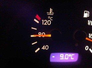 На фото - рабочая температура дизельного двигателя, autoritet.com