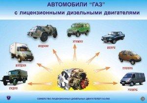 На фото - сфера применения дизельного двигателя, nn-motors.gaz.ru