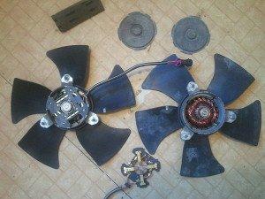 На фото - поломка вентилятора охлаждения, drive2.ru