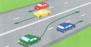 Фото обгона на дороге с двумя полосами, credo.lv