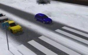 На фото - обгон на пешеходном переходе, stop-signal.info