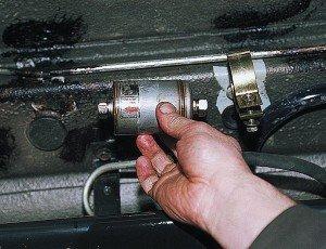 Фото замены топливного фильтра после чистки инжектора, autoprospect.ru