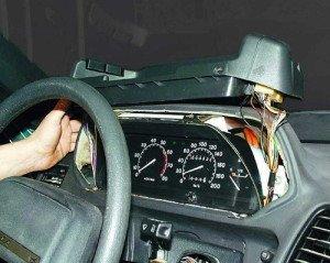 Фото снятия щитка приборов ВАЗ-2110, autosecret.net