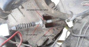 На фото - контргайка сцепления, twokarburators.ru
