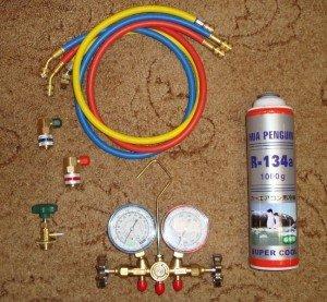 Фото набора инструментов для заправки кондиционера авто, drive2.ru