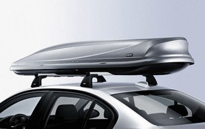 На фото - багажник-бокс на крышу авто с системой защиты от взлома, zapchasti.mobilcentre.ru