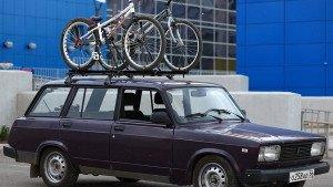 Фото багажника под велосипед на ВАЗ 2104, drive2.ru