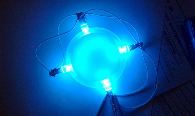 На фото - светодиоды для кольца замка зажигания