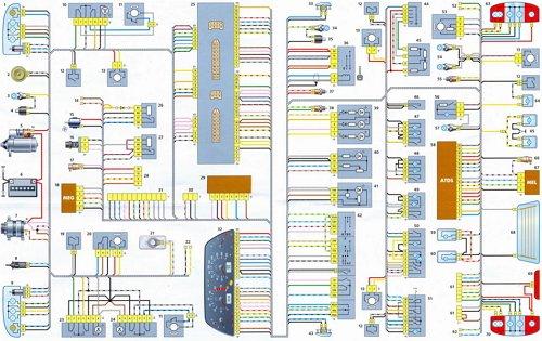 Схема освещения ВАЗ 2123 имеет